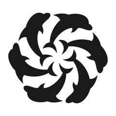 dolphin vector logo.