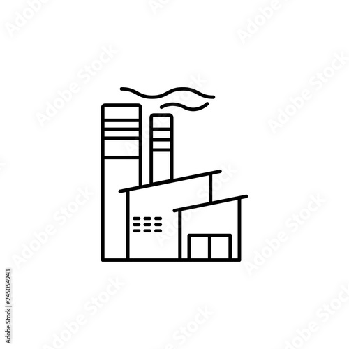 Factory Building Icon Element Of Production Icon For Mobile