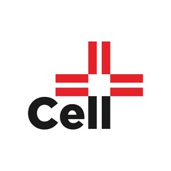 cell and cross vector logo