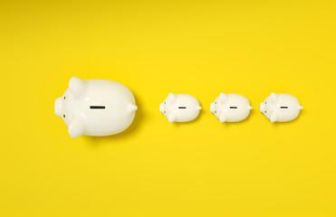 Piggy Bank save money investment concept