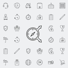 compass direction icon. logistics icons universal set for web and mobile