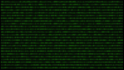 01 or binary numbers on the computer screen on black monitor background metrix, Digital data code in hacker or security technology concept. Abstract illustration