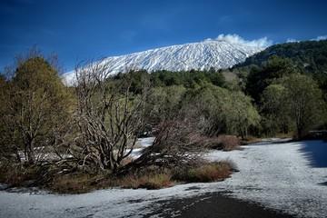 Wall Mural - Etna Mount Winter Landscape