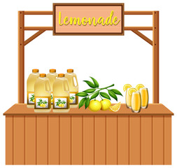 An Isolated lemonade stall