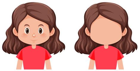 A brunette hair female character