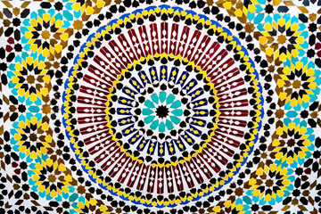 abstract tile mosaic pattern, photo as background