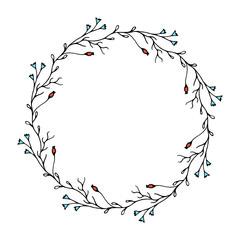 elegant botanical wreath
