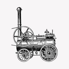 Portable steam engines illustration