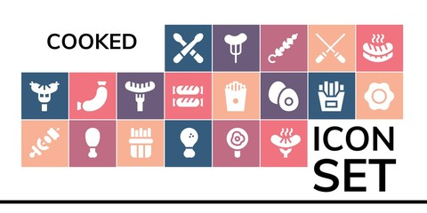 cooked icon set