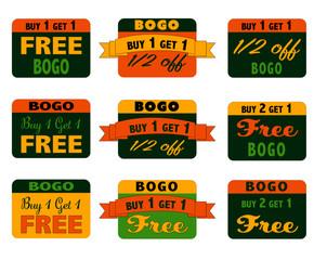 BOGO signs