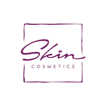 Beauty Handdrawn Typography for Skin Care Cosmetic logo design