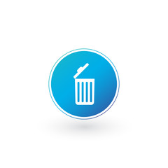 Delete icon , Open Trash can, Recycle bin, Garbage sign isolated on white background. Can be used for Web site, UI, apps. presentations.