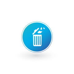 Delete icon , Trash can, Recycle bin, Garbage sign isolated on white background. Can be used for Web site, UI, apps. presentations.