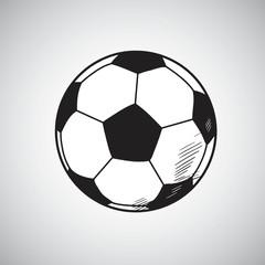 Soccer Ball Vector Drawing Hand Drawn