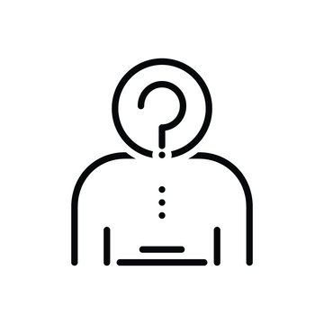 Black line icon for anonymity