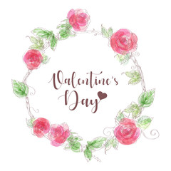 Valentine's Day.hand drawn Vector illustration.