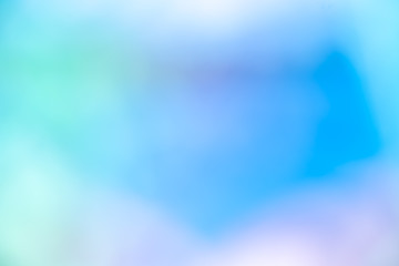 Abstract blur light gradient blue pastel color wallpaper background.