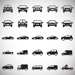 Automobile icons set on white background for graphic and web design, Modern simple vector sign. Internet concept. Trendy symbol for website design web button or mobile app