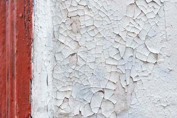 texture of peeling paint on wall