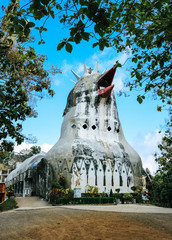 The chicken church (Gereja Ayam), a prayer house shaped like a pigeon - a popular tourist attraction near Yogyakarta in Indonesia