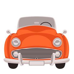 red vintage car,vector illustration, flat style, front