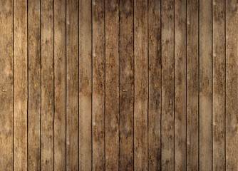 Floor or wall of rustic wooden boards Wall mural