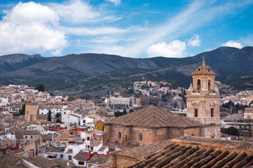 Townscape against idyllic sky in Caravaca de la Cruz, Spain
