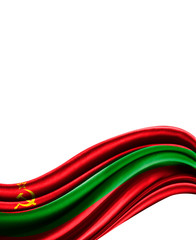 Transnistria flag on cloth isolated on white background