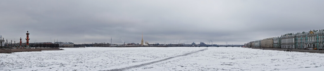 Islands of Saint Petersburg panorama