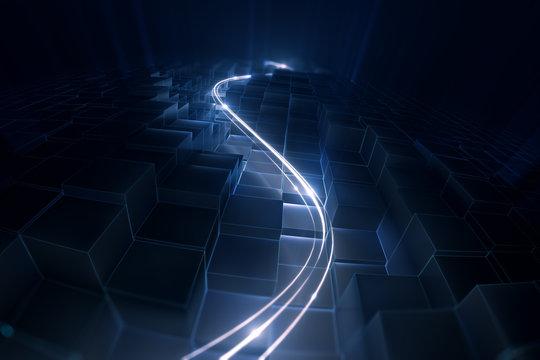 Datenstrom | Weg durch die digitale Welt - V1