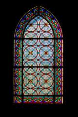 Le Crotoy - Vitrail de l'église saint Pierre - Somme. Picardie. Haut de France