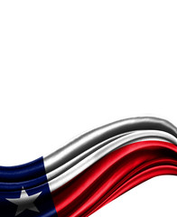 State of Texas flag on cloth isolated on white background