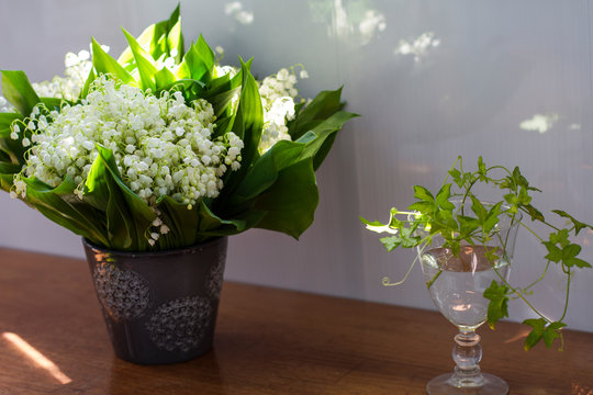 bouquet spring flowers lilies of the valley