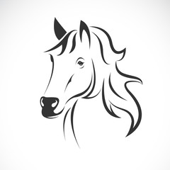 Vector of horse head design on a white background. Wild Animals. Easy editable layered vector illustration.