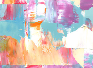 Colorful abstract painted background. Texture of oil, palette knife. High detail. Can be used for web design, art print, textured fonts, figures, shapes, etc.
