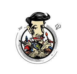 Graphic Designer - Art director - Freelancer,  Flat vector cartoon illustration