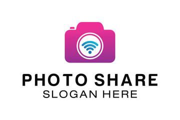 PHOTO SHARE LOGO DESIGN TEMPLATE