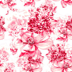 Floral pattern ,seamless in pink color