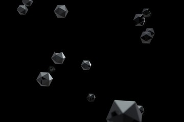 Abstract 3d rendering of particles