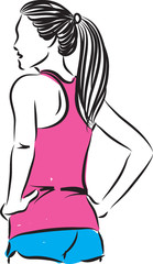 fitness woman vector 2 illustration