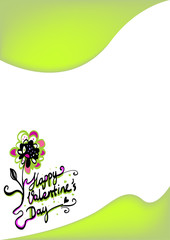 abstract floral background with flowers and heart shapes