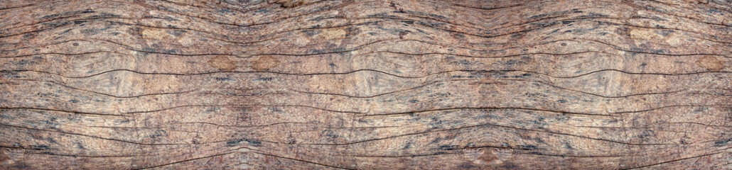 Panorama old wood wall with beautiful vintage brown wooden texture background