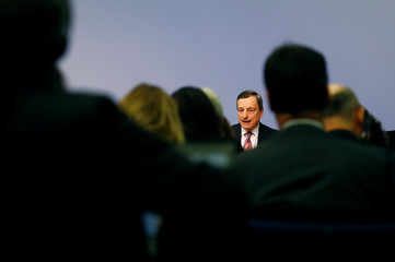 ECB President Draghi holds a news conference in Frankfurt
