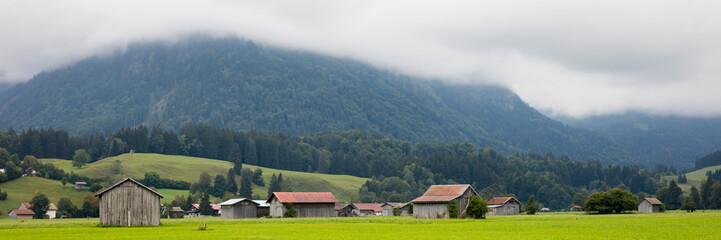 Landschaft bei Oberstdorf, Allgäu, Allgäuer Alpen, Bayern, Deutschland, Europa