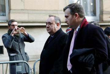 Former First Minister of Scotland Alex Salmond arrives at The Edinburgh Sheriff Court, in Edinburgh