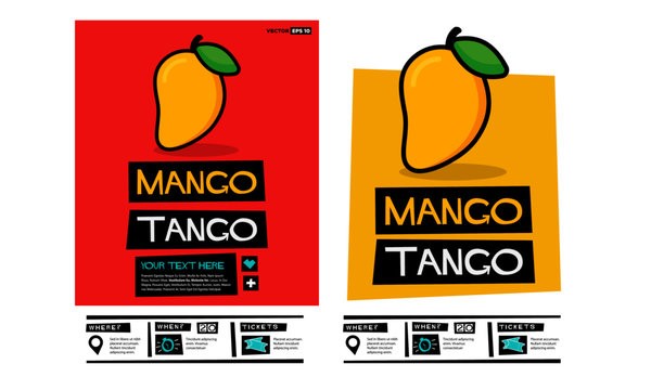 Mango Tango Retro Poster Design