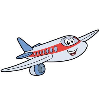 Cute smiling airplane