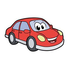 Cute smiling car