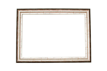 Baguette frame isolated on white