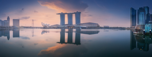 Business district and Marina bay in Singapore